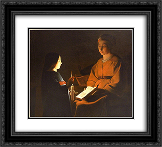Education of the Virgin 22x20 Black or Gold Ornate Framed and Double Matted Art Print by Georges de la Tour