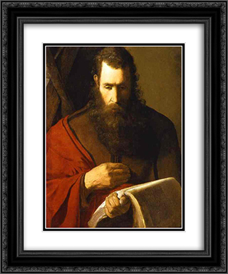 St. Andrew 20x24 Black or Gold Ornate Framed and Double Matted Art Print by Georges de la Tour