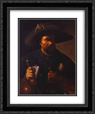 St. James the Greater 20x24 Black or Gold Ornate Framed and Double Matted Art Print by Georges de la Tour