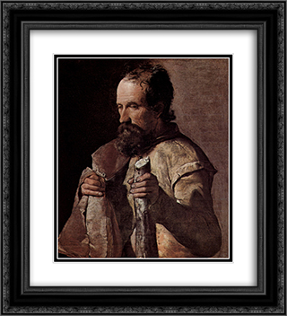 St. James the Minor 20x22 Black or Gold Ornate Framed and Double Matted Art Print by Georges de la Tour