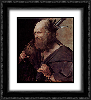 St. Jude Thaddeus 20x22 Black or Gold Ornate Framed and Double Matted Art Print by Georges de la Tour