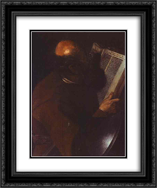 St. Matthew 20x24 Black or Gold Ornate Framed and Double Matted Art Print by Georges de la Tour