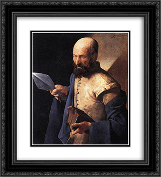 St. Thomas, also called Saint with a Pike 20x22 Black or Gold Ornate Framed and Double Matted Art Print by Georges de la Tour