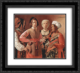 The Fortune-Teller 22x20 Black or Gold Ornate Framed and Double Matted Art Print by Georges de la Tour