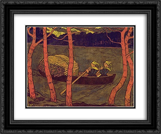 Boatwomen in Brittany 24x20 Black or Gold Ornate Framed and Double Matted Art Print by Georges Lacombe