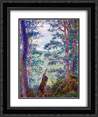 In the Forest 20x24 Black or Gold Ornate Framed and Double Matted Art Print by Georges Lacombe