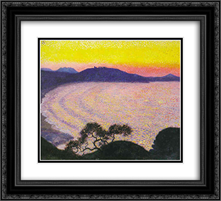 Some Waves 22x20 Black or Gold Ornate Framed and Double Matted Art Print by Georges Lacombe