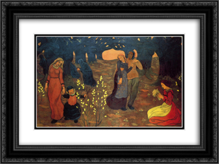 The Ages of Life 24x18 Black or Gold Ornate Framed and Double Matted Art Print by Georges Lacombe