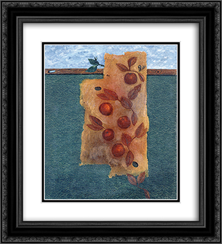 Avant le festin 20x22 Black or Gold Ornate Framed and Double Matted Art Print by Georges Papazoff