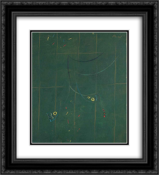 Composition 20x22 Black or Gold Ornate Framed and Double Matted Art Print by Georges Papazoff