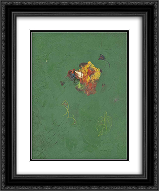 Flower 20x24 Black or Gold Ornate Framed and Double Matted Art Print by Georges Papazoff