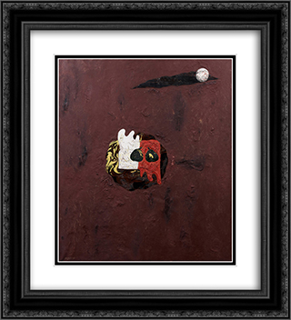 Red Glove and White Glove 20x22 Black or Gold Ornate Framed and Double Matted Art Print by Georges Papazoff