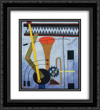 Silence 20x22 Black or Gold Ornate Framed and Double Matted Art Print by Georges Ribemont Dessaignes