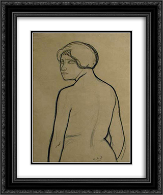 Untitled (Portrait) 20x24 Black or Gold Ornate Framed and Double Matted Art Print by Georges Ribemont Dessaignes