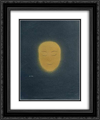 Untitled (Sun Face) 20x24 Black or Gold Ornate Framed and Double Matted Art Print by Georges Ribemont Dessaignes