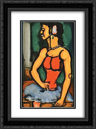 Bittersweet 18x24 Black or Gold Ornate Framed and Double Matted Art Print by Georges Rouault