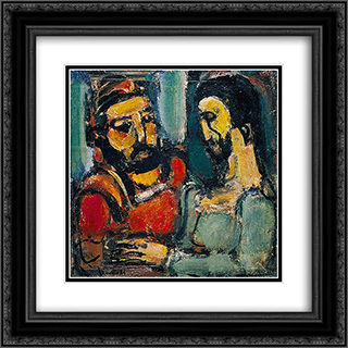 Christ et Docteur 20x20 Black or Gold Ornate Framed and Double Matted Art Print by Georges Rouault