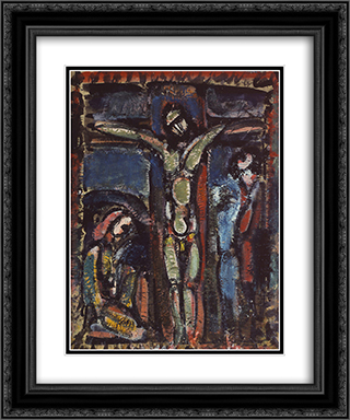 Crucifixion 20x24 Black or Gold Ornate Framed and Double Matted Art Print by Georges Rouault