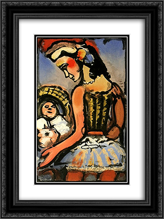 Dors mon amour (Sleep my love) 18x24 Black or Gold Ornate Framed and Double Matted Art Print by Georges Rouault