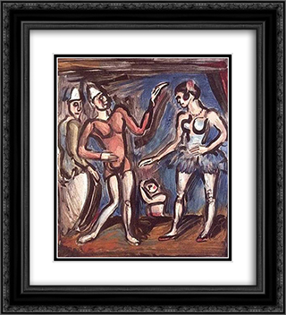 La Parade 20x22 Black or Gold Ornate Framed and Double Matted Art Print by Georges Rouault