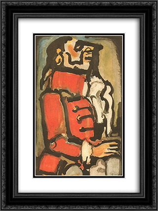 L'Quais 18x24 Black or Gold Ornate Framed and Double Matted Art Print by Georges Rouault