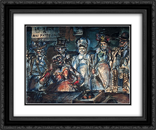 Slaughter 24x20 Black or Gold Ornate Framed and Double Matted Art Print by Georges Rouault
