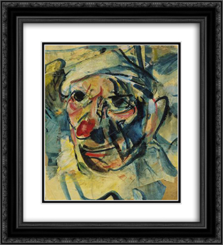 The Clown 20x22 Black or Gold Ornate Framed and Double Matted Art Print by Georges Rouault