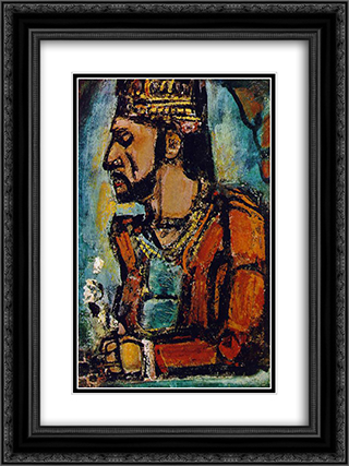 The Old King 18x24 Black or Gold Ornate Framed and Double Matted Art Print by Georges Rouault