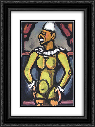 Triste Os from Cirque de l'Etoile Filante 18x24 Black or Gold Ornate Framed and Double Matted Art Print by Georges Rouault