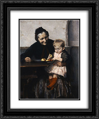 Grandma's Favourite 20x24 Black or Gold Ornate Framed and Double Matted Art Print by Georgios Jakobides