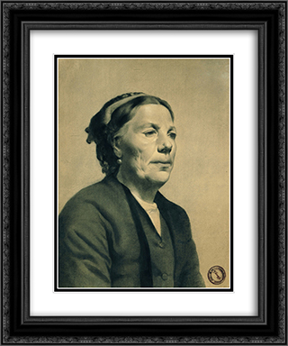 Old Lady with Scar on her Cheek 20x24 Black or Gold Ornate Framed and Double Matted Art Print by Georgios Jakobides
