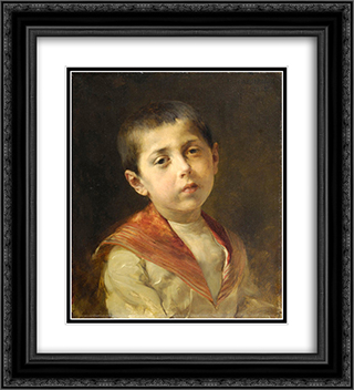 Potrait of Vassilakis Melas 20x22 Black or Gold Ornate Framed and Double Matted Art Print by Georgios Jakobides