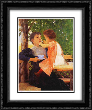 Reversal of Roles 20x24 Black or Gold Ornate Framed and Double Matted Art Print by Georgios Jakobides