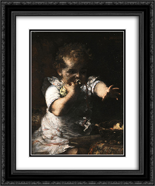 The insatiable 20x24 Black or Gold Ornate Framed and Double Matted Art Print by Georgios Jakobides