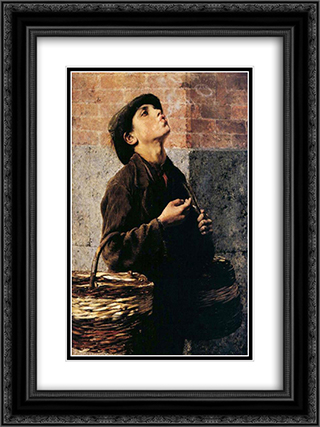 The Smoker 18x24 Black or Gold Ornate Framed and Double Matted Art Print by Georgios Jakobides