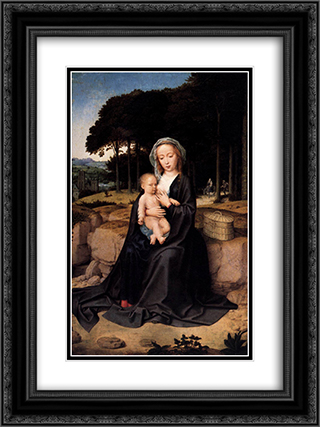A Rest During the Flight to Egypt 18x24 Black or Gold Ornate Framed and Double Matted Art Print by Gerard David