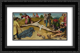 Christ Nailed to the Cross 24x16 Black or Gold Ornate Framed and Double Matted Art Print by Gerard David