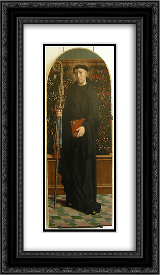 Polyptych of Cervara St. Mauro 14x24 Black or Gold Ornate Framed and Double Matted Art Print by Gerard David