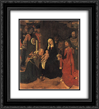 The Adoration of the Magi 20x22 Black or Gold Ornate Framed and Double Matted Art Print by Gerard David