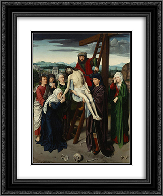 The Deposition 20x24 Black or Gold Ornate Framed and Double Matted Art Print by Gerard David