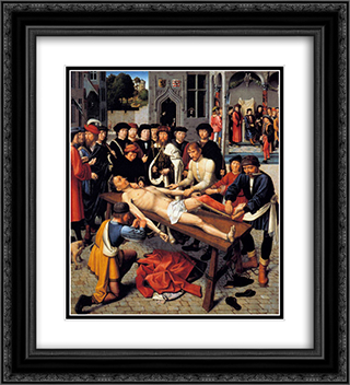 The Flaying of the Corrupt Judge Sisamnes 20x22 Black or Gold Ornate Framed and Double Matted Art Print by Gerard David