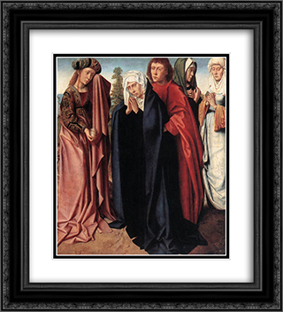 The Holy Women and St. John at Golgotha 20x22 Black or Gold Ornate Framed and Double Matted Art Print by Gerard David
