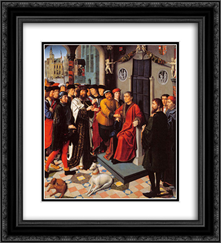 The Judgement of Cambyses 20x22 Black or Gold Ornate Framed and Double Matted Art Print by Gerard David