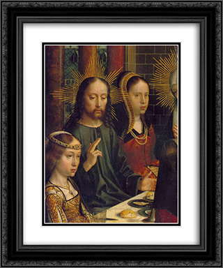 The Marriage at Cana (detail) 20x24 Black or Gold Ornate Framed and Double Matted Art Print by Gerard David
