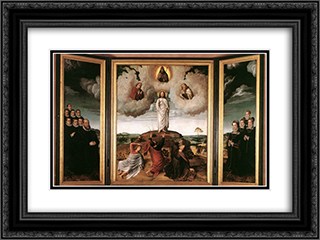 The Transfiguration of Christ 24x18 Black or Gold Ornate Framed and Double Matted Art Print by Gerard David