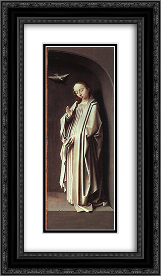 The Virgin of the Annunciation 14x24 Black or Gold Ornate Framed and Double Matted Art Print by Gerard David
