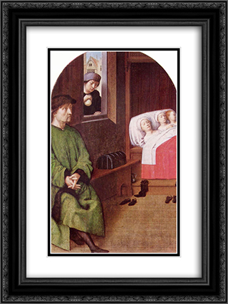 Two Legends of St. Nicholas 18x24 Black or Gold Ornate Framed and Double Matted Art Print by Gerard David