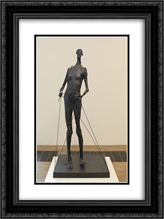 Diabolo 18x24 Black or Gold Ornate Framed and Double Matted Art Print by Germaine Richier