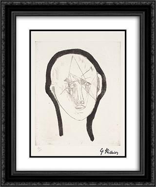 Portrait 20x24 Black or Gold Ornate Framed and Double Matted Art Print by Germaine Richier