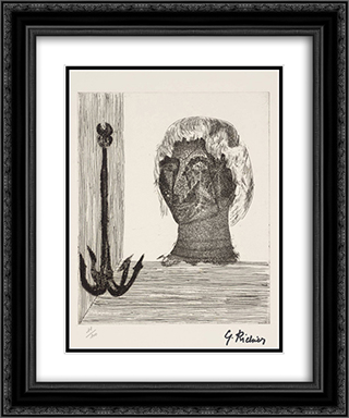 Self - Portrait 20x24 Black or Gold Ornate Framed and Double Matted Art Print by Germaine Richier